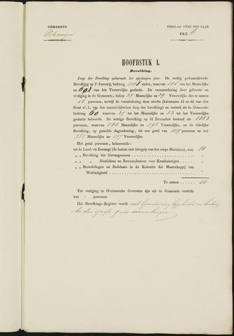 Teteringen - Verslagen van de toestand van de gemeente 1856