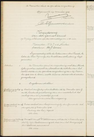 Teteringen - Notulen en bijlagen van de gemeenteraad 1941