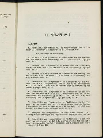 Breda - Notulen van de gemeenteraad 1948