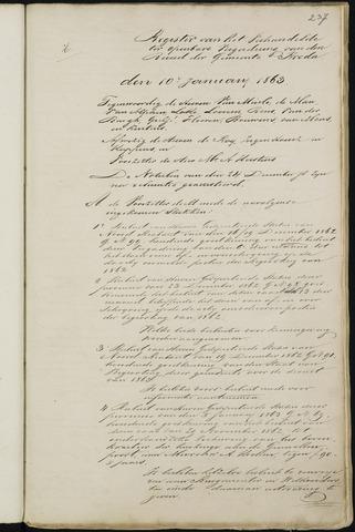 Breda - Notulen van de gemeenteraad 1863-01-01
