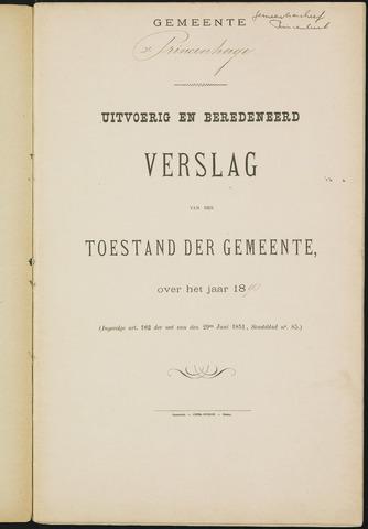 Princenhage - Verslagen van de toestand van de gemeente 1893