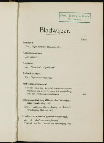 Breda - Indexen op de notulen van de gemeenteraad 1926-01-01