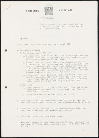 Teteringen - Notulen en bijlagen van de gemeenteraad 1971-04-27