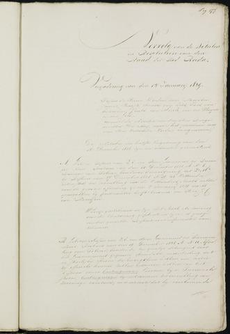 Breda - Notulen van de gemeenteraad 1829-01-01