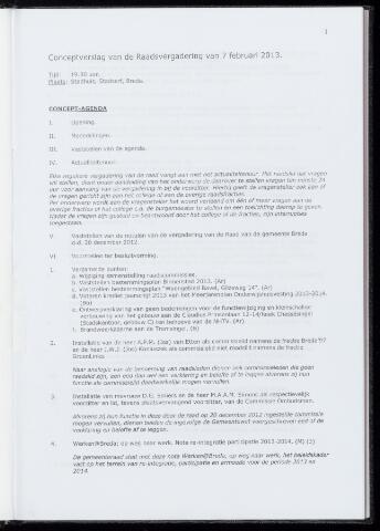 Breda - Notulen van de gemeenteraad 2013-02-07