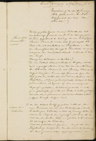 Princenhage - Notulen van de gemeenteraad 1821-01-01