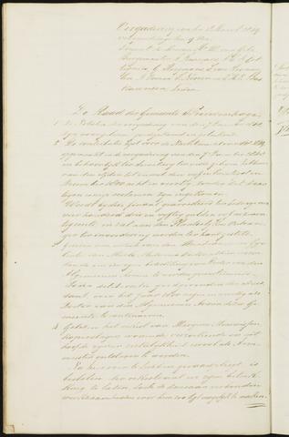 Princenhage - Notulen van de gemeenteraad 1849