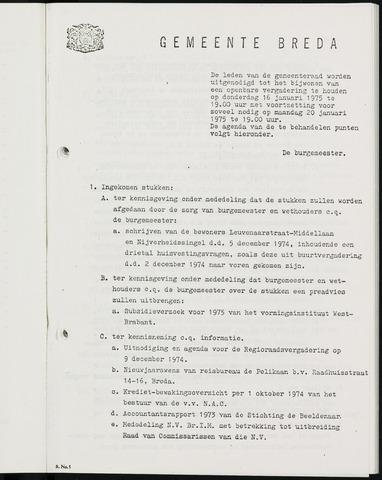 Breda - Bijlagen bij de notulen van de gemeenteraad 1975-01-01