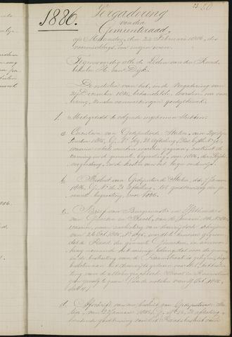 Teteringen - Notulen en bijlagen van de gemeenteraad 1886