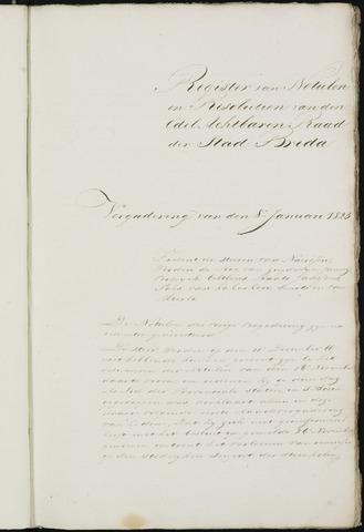 Breda - Notulen van de gemeenteraad 1823-01-01