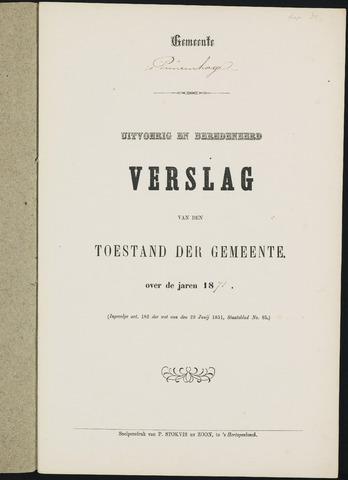 Princenhage - Verslagen van de toestand van de gemeente 1871-01-01
