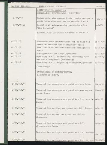 Teteringen - Indexen op de notulen van de gemeenteraad 1979-01-01