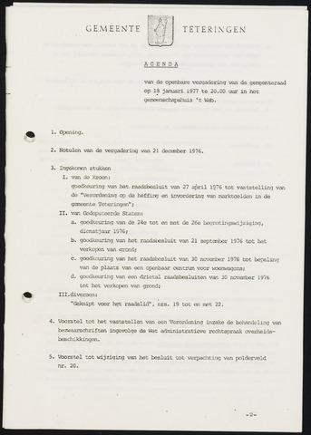 Teteringen - Notulen en bijlagen van de gemeenteraad 1977-01-18