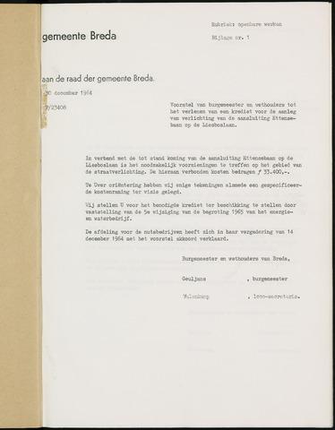 Breda - Bijlagen bij de notulen van de gemeenteraad 1965