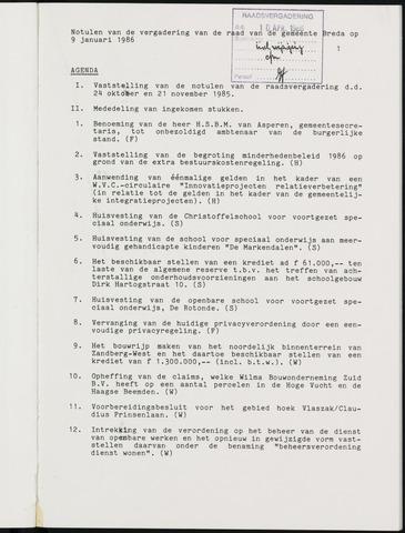 Breda - Notulen van de gemeenteraad 1986