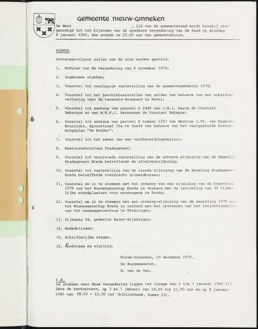 Nieuw-Ginneken - Notulen en bijlagen van de gemeenteraad 1980