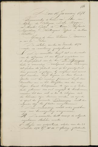 Breda - Notulen van de gemeenteraad 1871-01-01