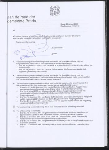 Breda - Bijlagen bij de notulen van de gemeenteraad 2005-01-26