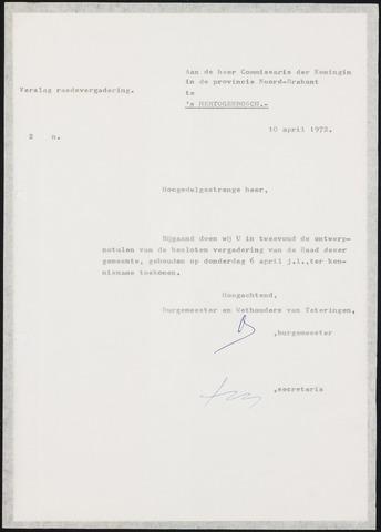 Teteringen - Notulen en bijlagen van de gemeenteraad 1972-04-06