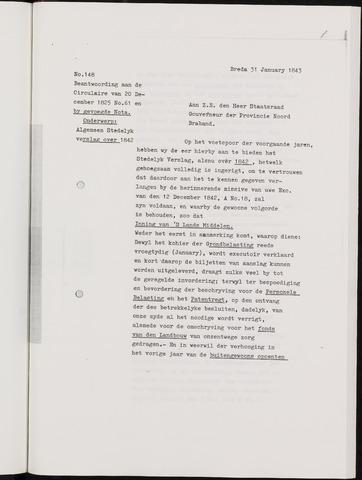 Breda - Verslagen van de toestand van de gemeente 1842-01-01