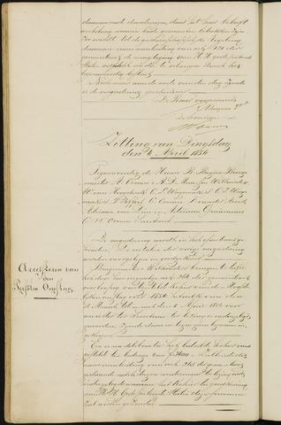 Ginneken en Bavel - Notulen van de gemeenteraad 1854-01-01