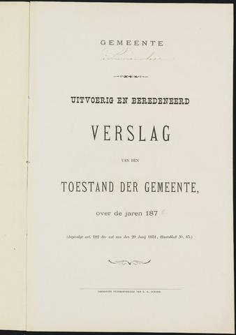 Princenhage - Verslagen van de toestand van de gemeente 1878