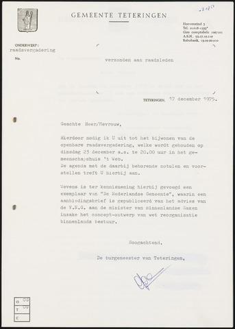 Teteringen - Notulen en bijlagen van de gemeenteraad 1975-12-23