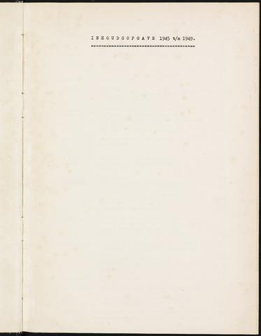 Prinsenbeek - Indexen op de notulen van de gemeenteraad 1945