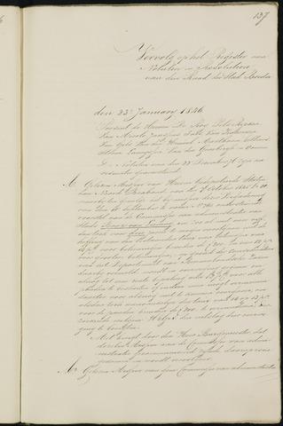Breda - Notulen van de gemeenteraad 1846