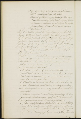 Princenhage - Notulen van de gemeenteraad 1884-01-01