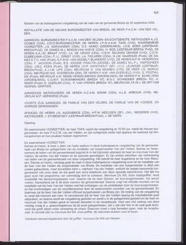 Breda - Notulen van de gemeenteraad 2004-09-30