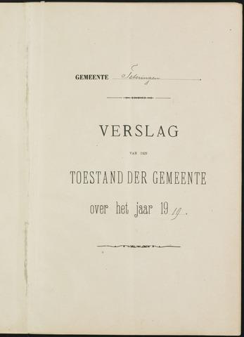 Teteringen - Verslagen van de toestand van de gemeente 1919