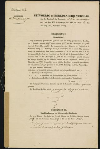Princenhage - Verslagen van de toestand van de gemeente 1854