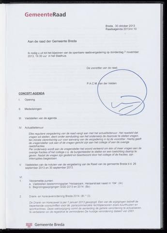 Breda - Bijlagen bij de notulen van de gemeenteraad 2013-11-07
