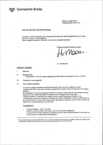 Breda - Bijlagen bij de notulen van de gemeenteraad 2015-03-12