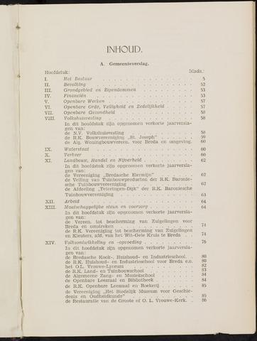 Breda - Verslagen van de toestand van de gemeente 1938