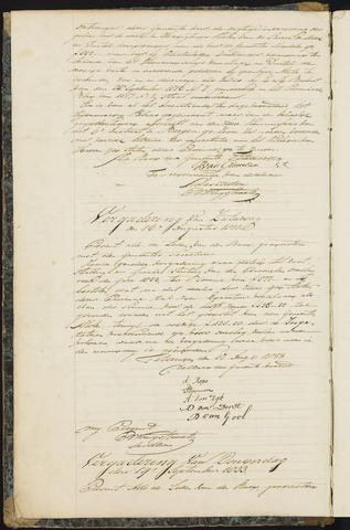 Teteringen - Notulen en bijlagen van de gemeenteraad 1833