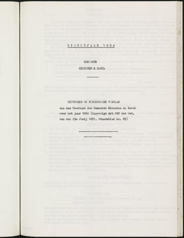 Ginneken en Bavel - Verslagen van de toestand van de gemeente 1864-01-01