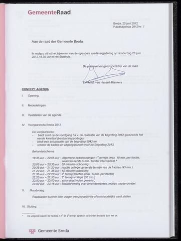 Breda - Bijlagen bij de notulen van de gemeenteraad 2012-06-28