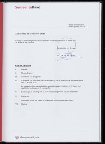 Breda - Bijlagen bij de notulen van de gemeenteraad 2010-03-10