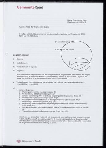 Breda - Bijlagen bij de notulen van de gemeenteraad 2008-09-11