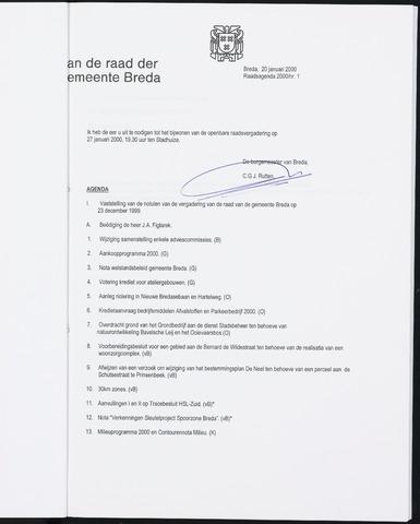 Breda - Bijlagen bij de notulen van de gemeenteraad 2000