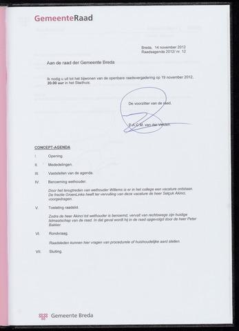 Breda - Bijlagen bij de notulen van de gemeenteraad 2012-11-19