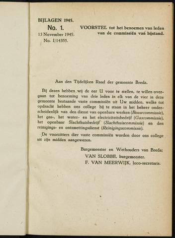 Breda - Bijlagen bij de notulen van de gemeenteraad 1945