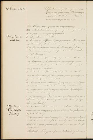 Princenhage - Notulen van de gemeenteraad 1910-01-01