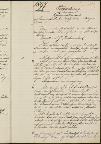 Teteringen - Notulen en bijlagen van de gemeenteraad 1897