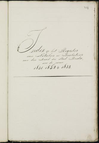 Breda - Indexen op de notulen van de gemeenteraad 1831