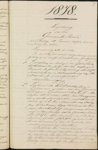 Teteringen - Notulen en bijlagen van de gemeenteraad 1878
