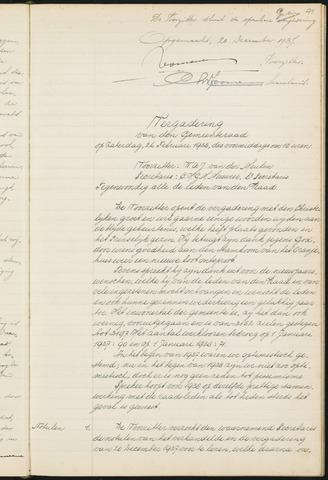 Teteringen - Notulen en bijlagen van de gemeenteraad 1938