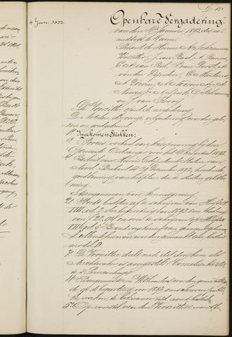 Princenhage - Notulen van de gemeenteraad 1893